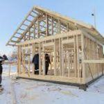 Строительство дома зимой. Можно ли строить зимой? Строительство дома своими руками.