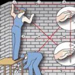 Выравнивание стен по маякам: как правильно выставлять маяки своими руками