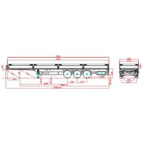 Автопоезд седельный тягач МАЗ-6430С9-570-011+ бортовой полуприцеп МАЗ