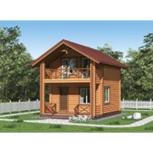 Проект двухэтажного дома площадью 6×6