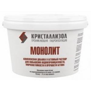 Кристаллизол Монолит – гидроизоляционная и морозостойкая добавка для бетона.